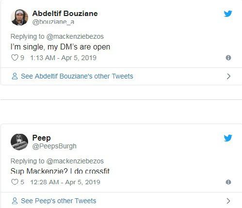 Hàng loạt đàn ông đổ xô vào Twitter vợ cũ CEO Amazon buông lời chọc ghẹo - Ảnh 2.