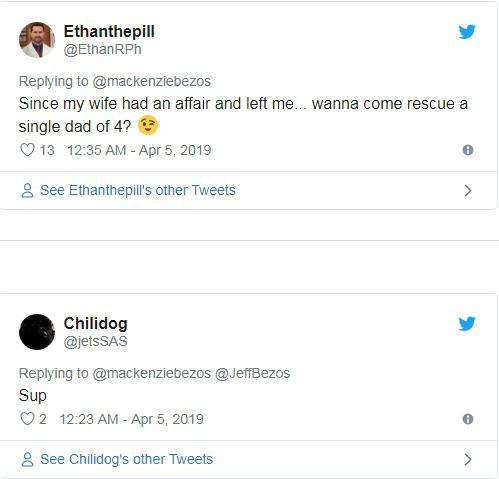 Hàng loạt đàn ông đổ xô vào Twitter vợ cũ CEO Amazon buông lời chọc ghẹo - Ảnh 4.