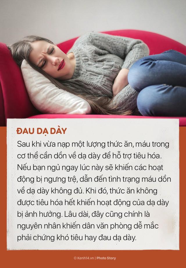 Ngoài việc khiến bạn tăng lượng mỡ thừa, nằm ngủ ngay sau khi ăn trưa còn có những tác hại này - Ảnh 2.