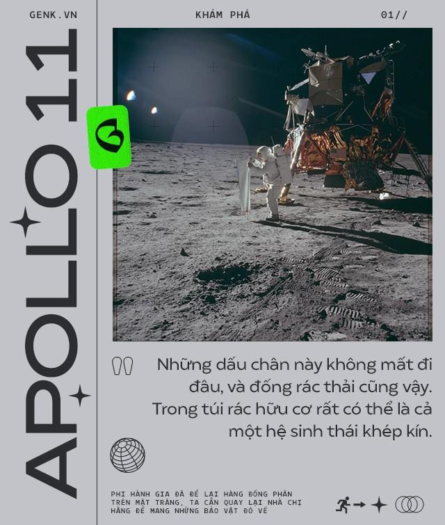Phi hành gia đã để lại hàng đống phân trên Mặt Trăng và lần tới, chúng ta sẽ phải lên đó mang chúng về - Ảnh 1.