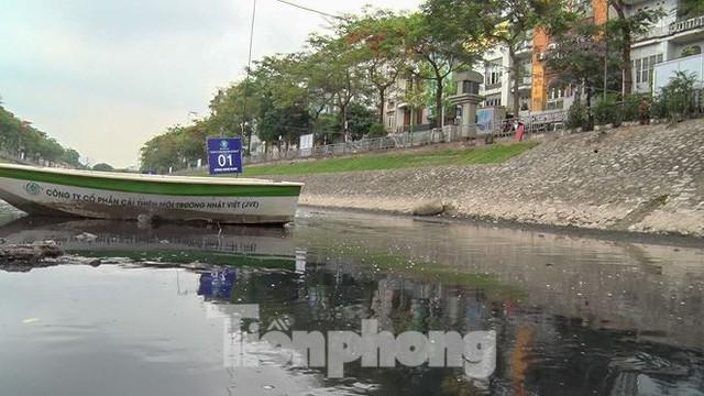 Sau 4 ngày thử nghiệm bảo bối của Nhật, sông Tô Lịch đã bớt mùi - Ảnh 8.