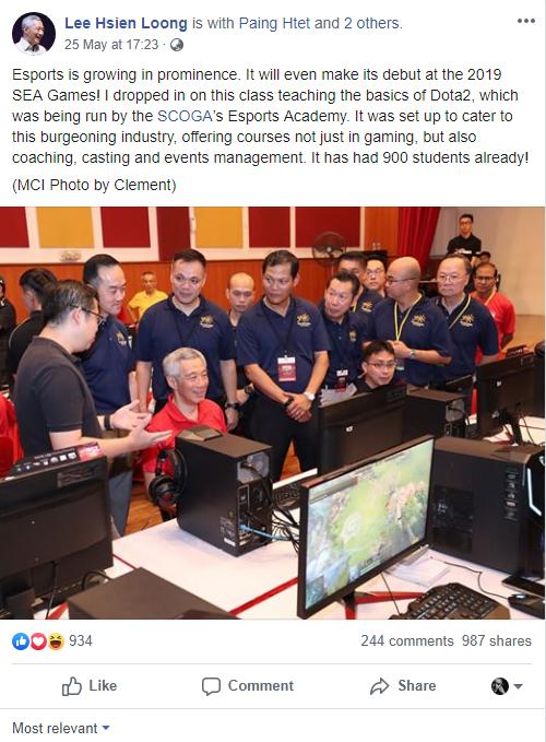 esport - photo 1 1559025788129445473671 - Thủ tướng Singapore Lý Hiển Long đánh Dota 2, bày tỏ sự ủng hộ nền công nghiệp Esport nước nhà