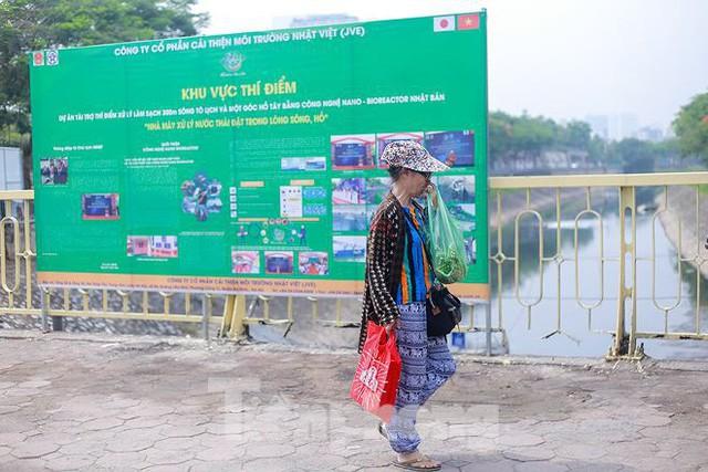 Nước sông Tô Lịch ra sao sau 10 ngày thí điểm bảo bối của Nhật?  - Ảnh 10.