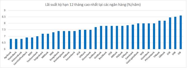 33 ngân hàng Việt, ai đang có lãi suất huy động kỳ hạn 12 tháng cao nhất? - Ảnh 1.