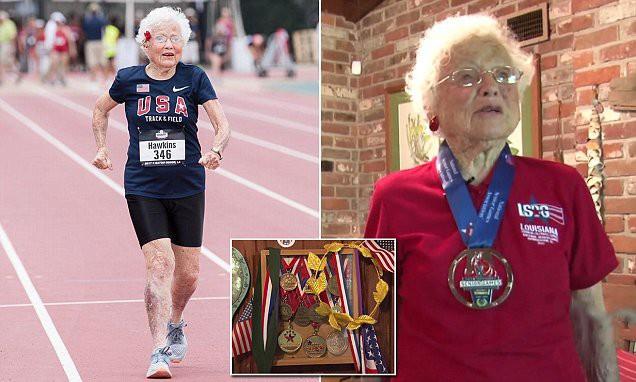 100 tuổi tập chạy bộ, 103 tuổi đoạt huy chương Vàng giải chạy toàn quốc: Cụ bà chia sẻ bí quyết đơn giản giúp sống thọ trong 3 câu!  - Ảnh 2.