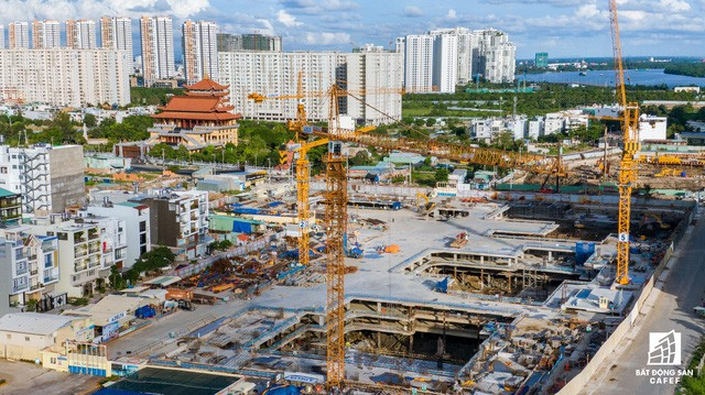 Cận cảnh dự án Raemian Galaxy City hơn 13.000 căn hộ nằm trong trung tâm Thủ Thiêm xây lụi  - Ảnh 14.