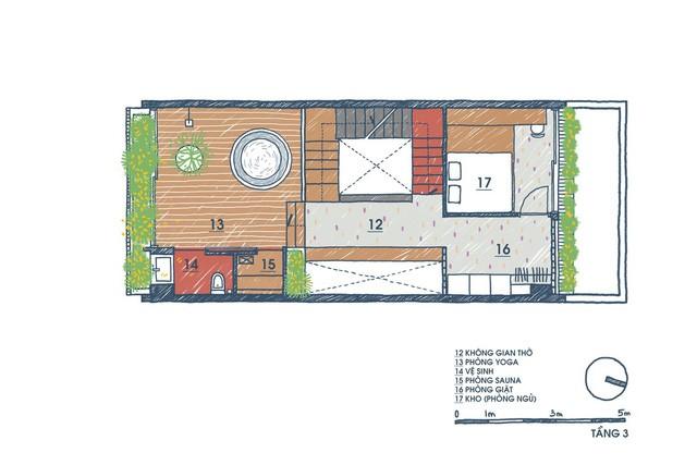 [Ảnh] Ngôi nhà ống 3 tầng có thiết kế lạ, độc đáo ở TP HCM - Ảnh 2.