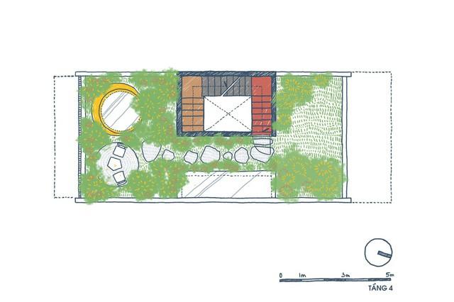 [Ảnh] Ngôi nhà ống 3 tầng có thiết kế lạ, độc đáo ở TP HCM - Ảnh 3.