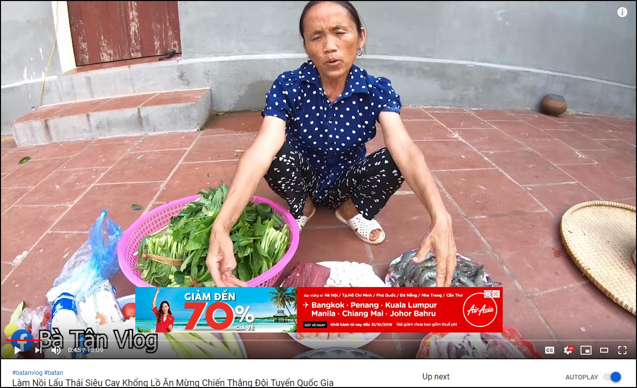 bà tân vlog - photo 1 1559893733069539070669 - Bà Tân Vlog đã được bật kiếm tiền YouTube, chính thức được chèn quảng cáo trong video