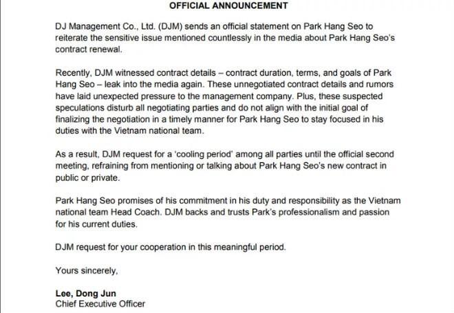 park hang-seo, sea games 30 - photo 1 15629141283611661275674 - HLV Park Hang Seo chốt ký hợp đồng trước SEA Games 30
