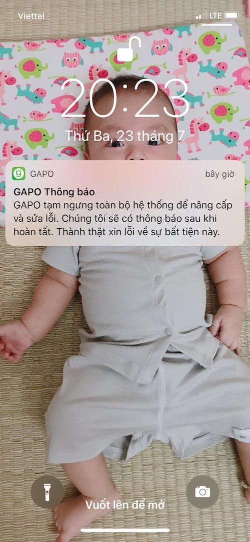 Gặp nhiều lỗi trong ngày đầu ra mắt, MXH Gapo thông báo bảo trì hệ thống - Ảnh 1.