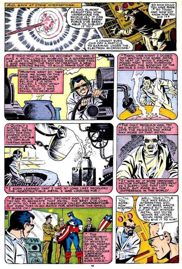 Tại sao trong vũ trụ điện ảnh của Marvel, khiên của Captain America lại được làm từ Vibranium thay vì Adamantium giống như trong truyện ? - Ảnh 3.