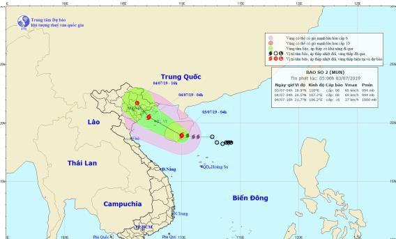 Tin bão khẩn cấp: Áp thấp nhiệt đới chính thức mạnh thành bão số 2, Hà Nội mưa lớn từ chiều nay - Ảnh 1.