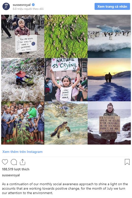 Vợ chồng Meghan Markle bị chỉ trích là đạo đức giả khi đăng tải bài viết gây tranh cãi trên Instagram  - Ảnh 1.