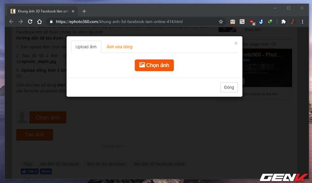 Cách tạo và đăng ảnh 3D lên Facebook mà không cần đến phần mềm hay thiết bị chuyên dụng - Ảnh 6.