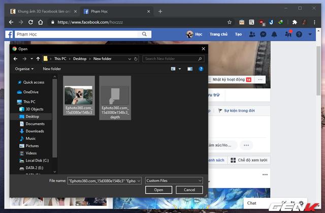 Cách tạo và đăng ảnh 3D lên Facebook mà không cần đến phần mềm hay thiết bị chuyên dụng - Ảnh 11.