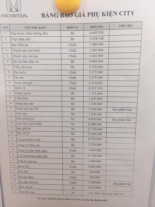 Hét giá phụ kiện đắt hơn gấp 10 lần bên ngoài - Bóc mẽ chiêu trò đại lý ô tô qua mặt khách Việt - Ảnh 4.