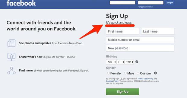 Facebook bi mat doi slogan