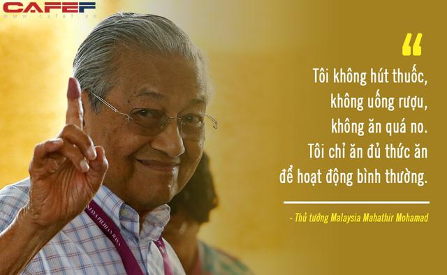 Bí quyết sống khỏe ở tuổi 94 của Thủ tướng Malaysia: Đạp xe gần 11 km, không ăn no và chỉ ngủ 6 tiếng/ngày! - Ảnh 4.