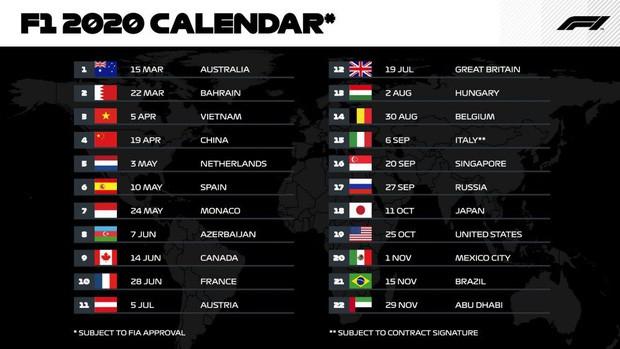 Chính thức: Ban tổ chức F1 công bố lịch chặng đua tại Việt Nam - Ảnh 1.