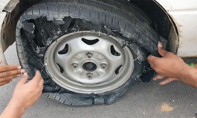 Cố lái xe với lốp xẹp lép, hậu quả ra sao? - Ảnh 3.