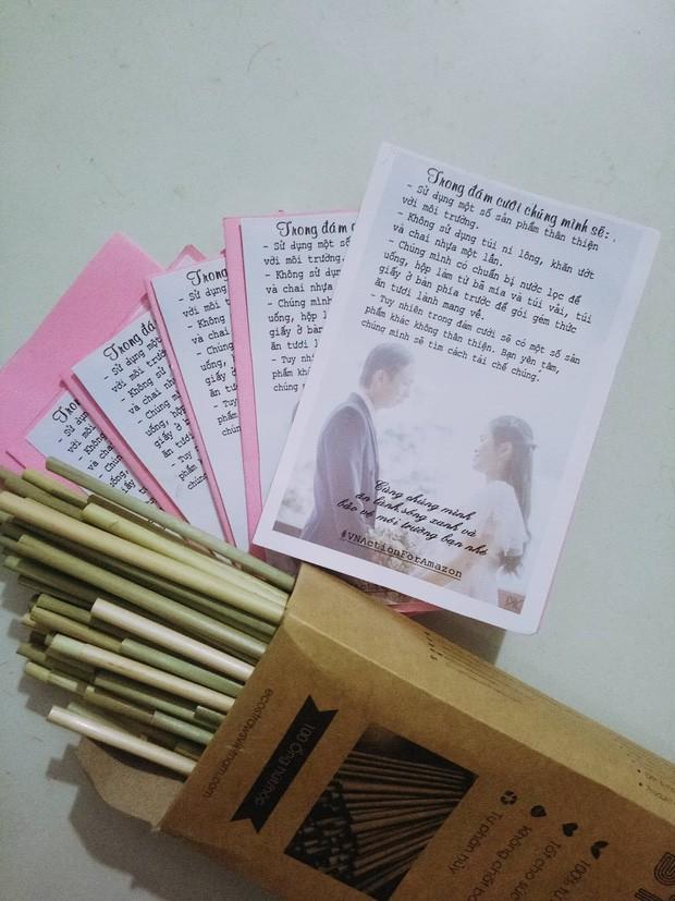 Đám cưới #livegreen dễ thương hết sức ở Lâm Đồng: Cô dâu chú rể nói không với túi nilon và chai nhựa, chuẩn bị sẵn túi vải cho khách - Ảnh 4.