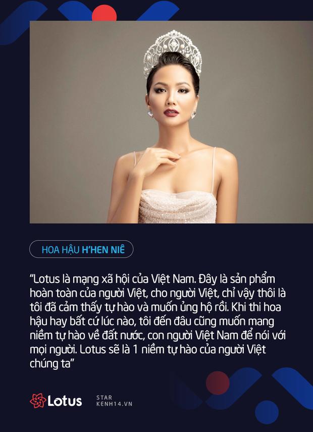 Dàn sao Việt nói gì trước thềm ra mắt MXH Lotus: HHen Niê muốn lan tỏa những điều tích cực, Chi Pu, Ninh Dương Lan Ngọc đặt niềm tin vào sản phẩm của người Việt - Ảnh 1.