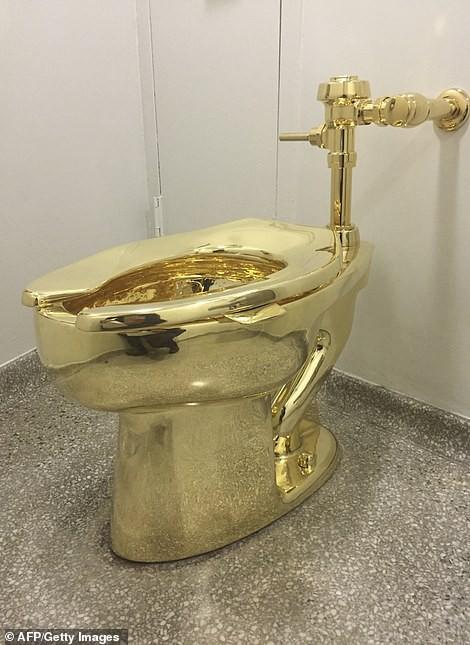 chiếc bồn cầu bằng vàng - photo 7 15686164281611736557937 - Bồn cầu bằng vàng trị giá 139 tỷ đồng bị đánh cắp