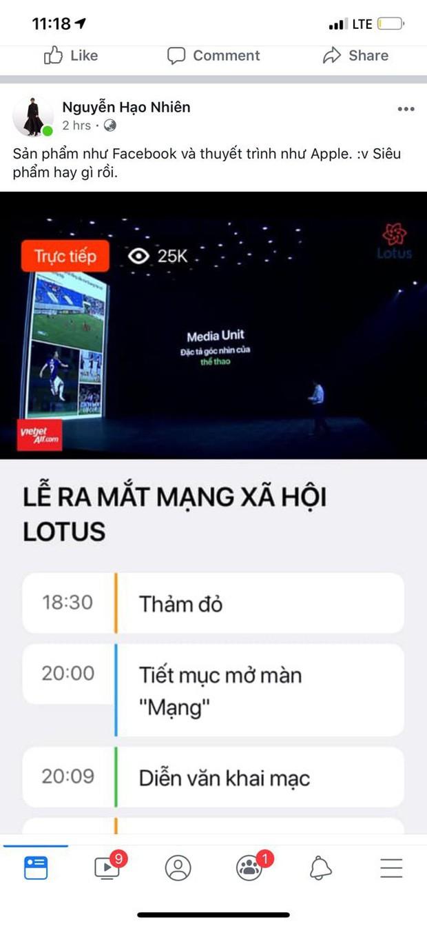 """Dân tình hào hứng sau đêm ra mắt MXH Lotus: """"Có thêm mạng xã hội nữa cũng tốt, có thêm nền tảng cho content sạch cũng tốt"""" - Ảnh 3."""