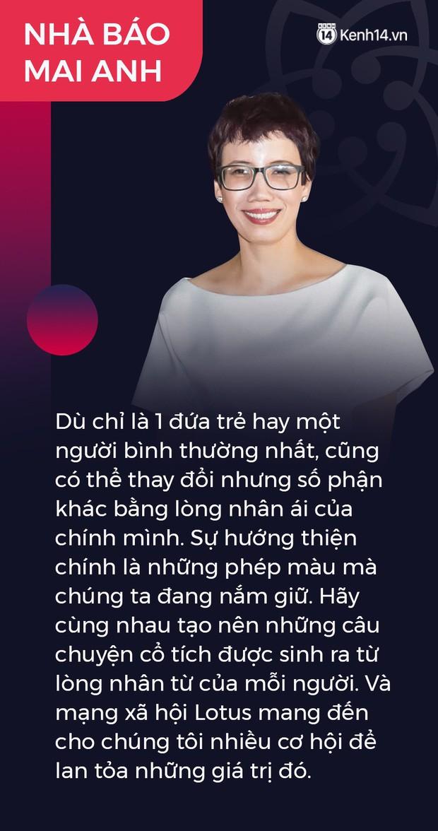 Ninh Dương Lan Ngọc, Quang Hải và nhà báo Mai Anh gây xúc động: Lotus sẽ mang đến cơ hội lan tỏa niềm tự hào giá trị Việt Nam - Ảnh 6.