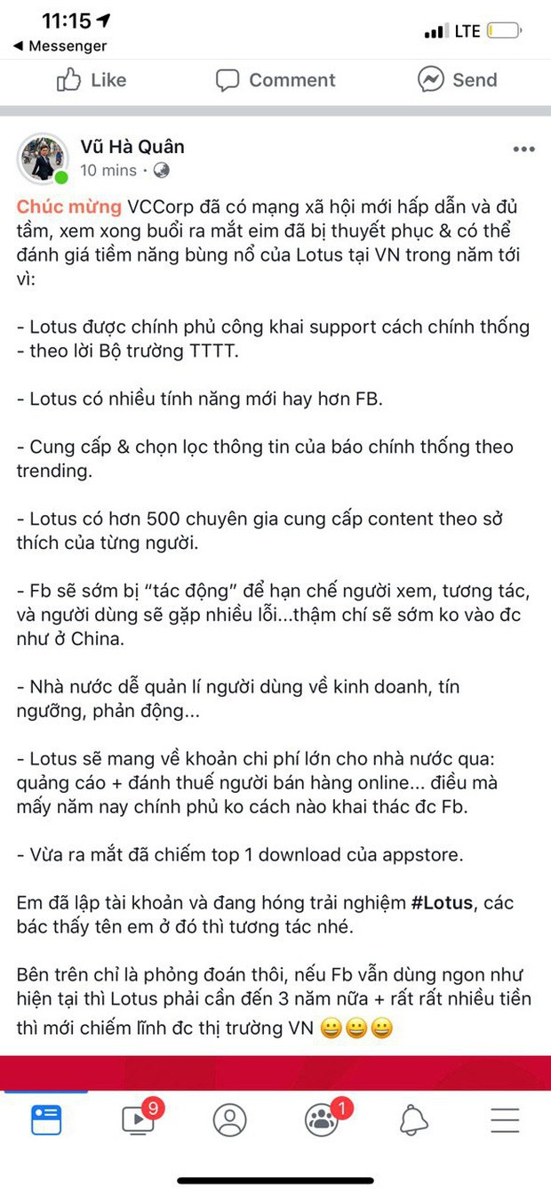 """Dân tình hào hứng sau đêm ra mắt MXH Lotus: """"Có thêm mạng xã hội nữa cũng tốt, có thêm nền tảng cho content sạch cũng tốt"""" - Ảnh 5."""