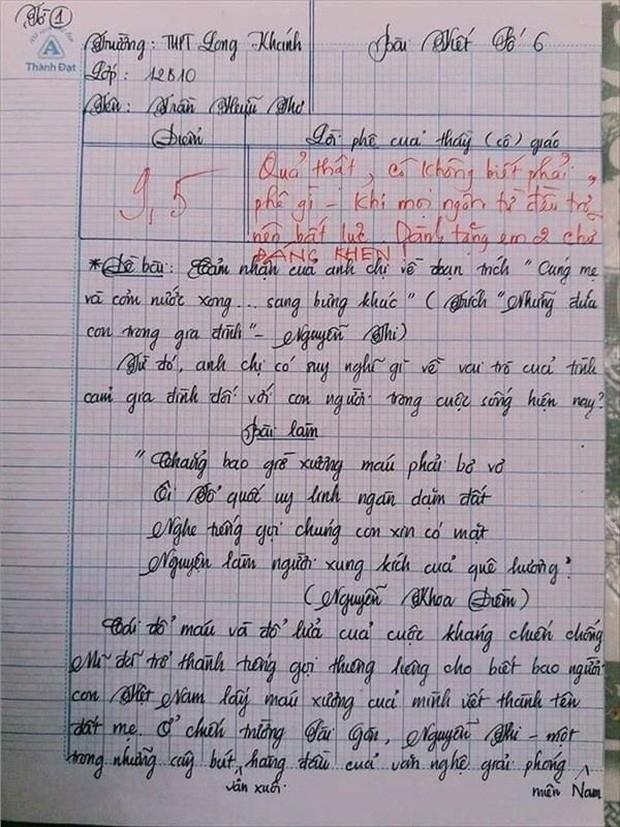 Nam sinh gây sốt với bài văn dài 18 trang, cô giáo đọc xong không biết phải phê gì vì quá xuất sắc! - Ảnh 1.