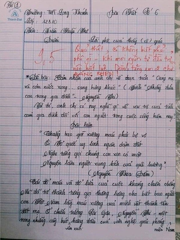Nam sinh gây sốt với bài văn dài 18 trang, cô giáo đọc xong không biết phải phê gì vì quá xuất sắc! - Ảnh 2.