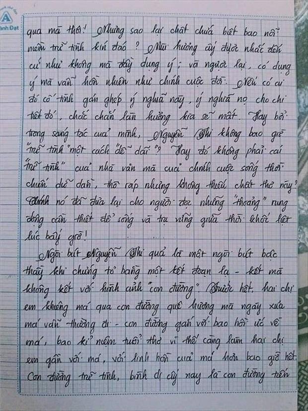 Nam sinh gây sốt với bài văn dài 18 trang, cô giáo đọc xong không biết phải phê gì vì quá xuất sắc! - Ảnh 12.