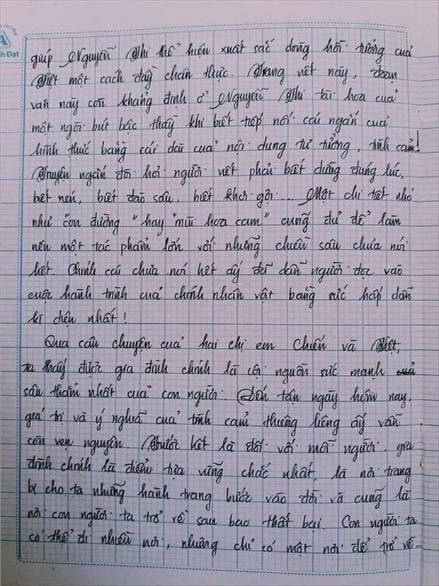 Nam sinh gây sốt với bài văn dài 18 trang, cô giáo đọc xong không biết phải phê gì vì quá xuất sắc! - Ảnh 15.