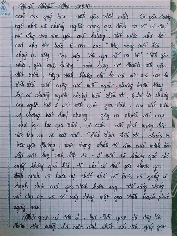 Nam sinh gây sốt với bài văn dài 18 trang, cô giáo đọc xong không biết phải phê gì vì quá xuất sắc! - Ảnh 18.