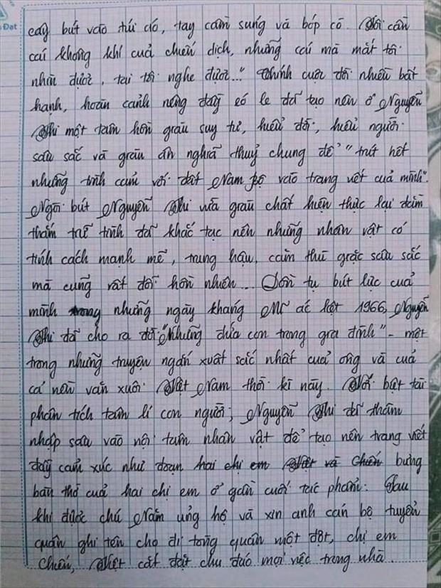 Nam sinh gây sốt với bài văn dài 18 trang, cô giáo đọc xong không biết phải phê gì vì quá xuất sắc! - Ảnh 4.