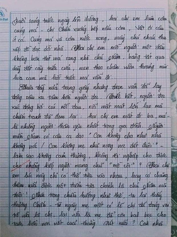 Nam sinh gây sốt với bài văn dài 18 trang, cô giáo đọc xong không biết phải phê gì vì quá xuất sắc! - Ảnh 5.