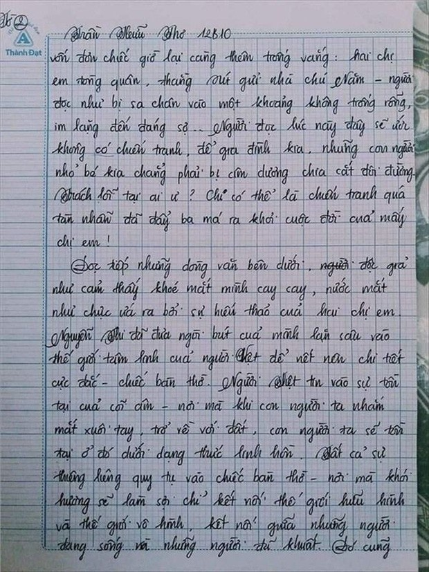 Nam sinh gây sốt với bài văn dài 18 trang, cô giáo đọc xong không biết phải phê gì vì quá xuất sắc! - Ảnh 6.