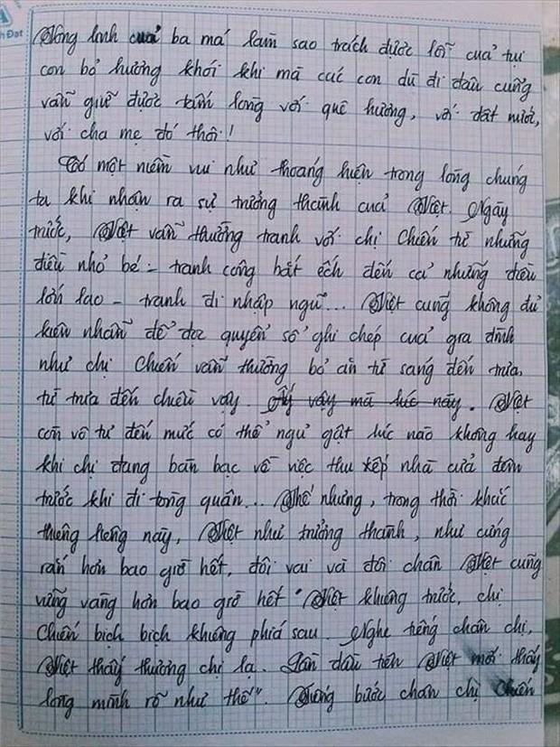 Nam sinh gây sốt với bài văn dài 18 trang, cô giáo đọc xong không biết phải phê gì vì quá xuất sắc! - Ảnh 8.