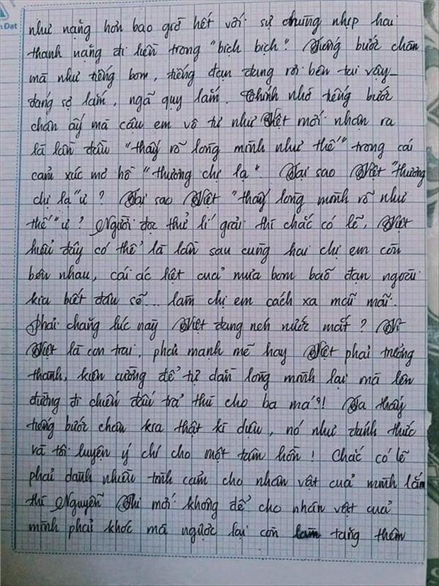 Nam sinh gây sốt với bài văn dài 18 trang, cô giáo đọc xong không biết phải phê gì vì quá xuất sắc! - Ảnh 9.
