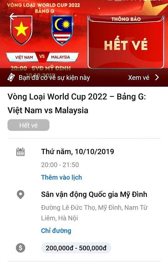 VFF đã bán hết vé xem trận Việt Nam vs Malaysia - Ảnh 1.