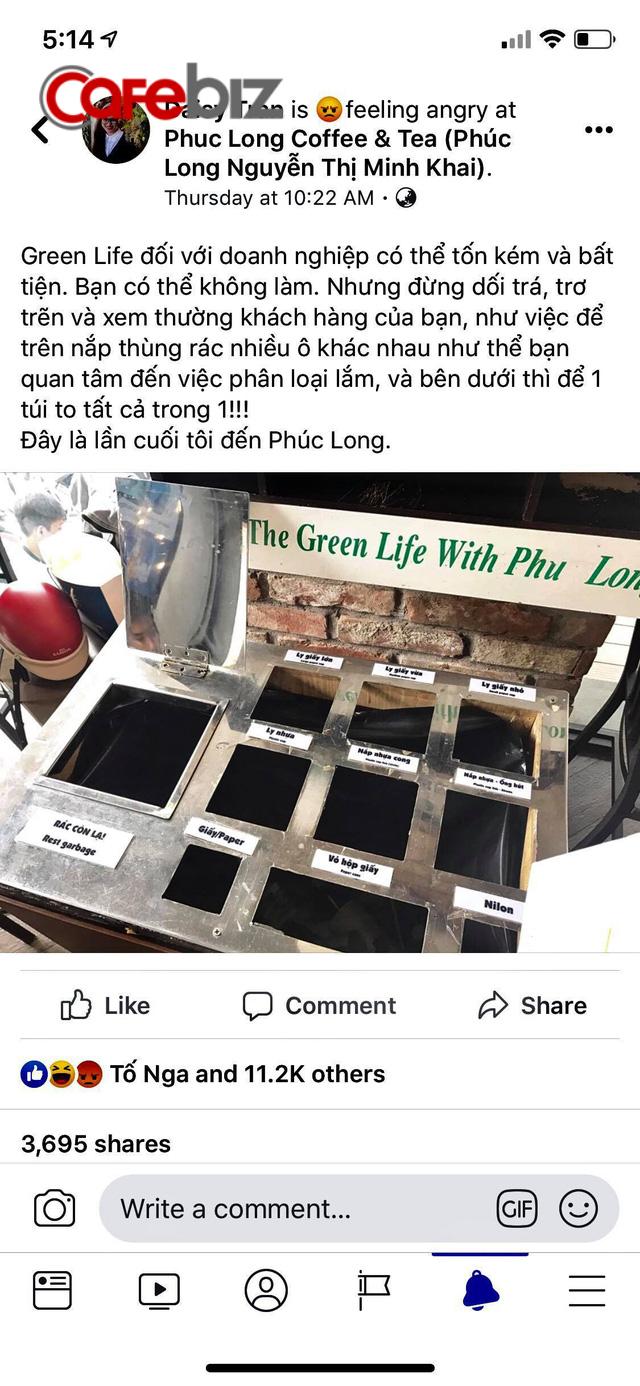 Kêu gọi sống xanh bằng thùng rác phân loại giả tạo, hãng cà phê Phúc Long bị kêu gọi tẩy chay vì lừa dối và xem thường khách hàng - Ảnh 1.