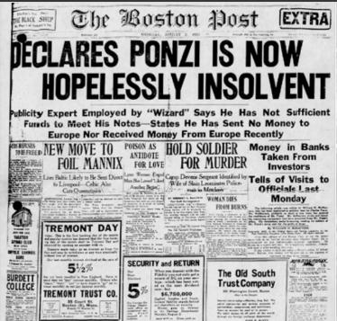 Chales Ponzi: Ông tổ lừa đảo, phát minh ra mô hình đầu tư siêu lợi nhuận - bóng ma đeo bám ngành đầu cơ thế giới - Ảnh 3.