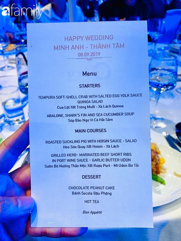 Sốc: Hé lộ thực đơn trong bữa tiệc cưới gần 20 tỷ của con gái đại gia Minh Nhựa, toàn sơn hào hải vị nhưng số lượng món ăn mới gây bất ngờ - Ảnh 7.