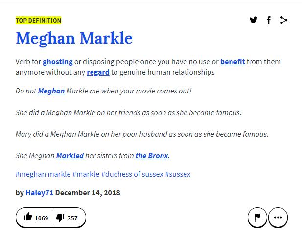 Vừa trốn về Canada, cái tên Meghan Markle đã biến thành từ lóng với ý nghĩa qua cầu rút ván - Ảnh 1.