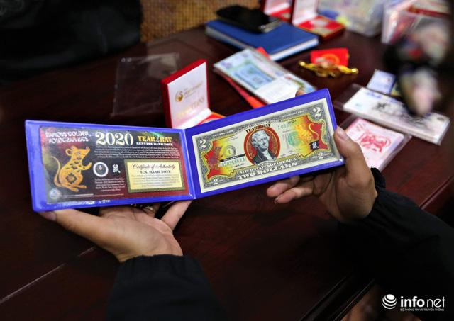 Độc đáo tiền lì xì in hình chuột hút khách trước dịp Tết Nguyên đán Canh Tý - Ảnh 1.