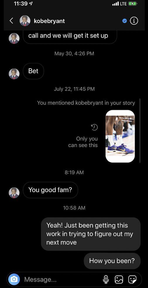 Tiết lộ những dòng tin nhắn cuối cùng từ huyền thoại bóng rổ Kobe Bryant trước khi qua đời thương tâm vì tai nạn trực thăng - Ảnh 2.