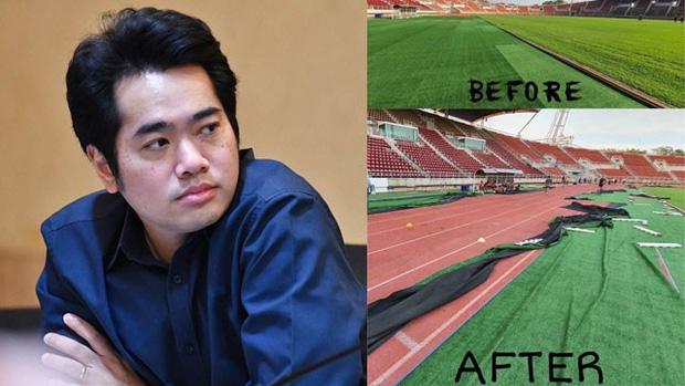 AFC nổi giận với chủ nhà Thái Lan: Lớp cỏ của SVĐ tổ chức U23 châu Á bị bóc trần để... tuyển điền kinh tập luyện - Ảnh 1.