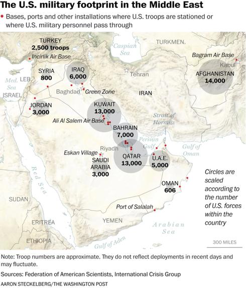Bao nhiêu quốc gia sẽ bị cuốn vào vòng xoáy nếu chiến tranh Mỹ - Iran? - Ảnh 1.